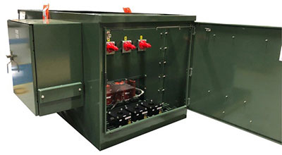 Padmount Solar Switchgear with Circuit Breaker Protection and Controls