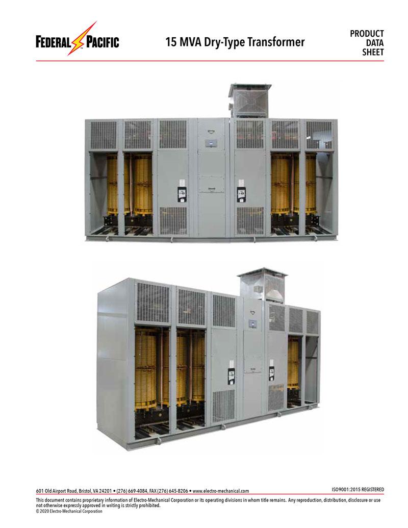 FP 15 MVA Dry Type Transformer