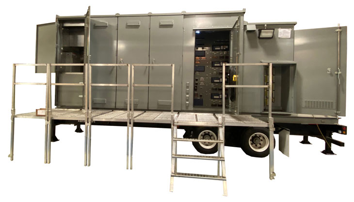 Federal Pacific 15kv Mobile Outdoor Utility Substation Secondary C1304 Operation Side